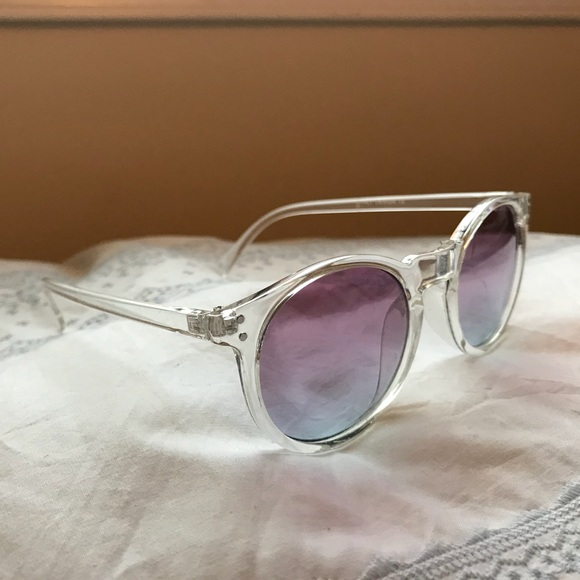 643c39402f Accessories - Clear Frame Ombré Lens Sunglasses